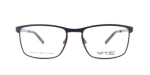 MOREL-Optique-30014 bleu-Optique Homme-metal-rectangle