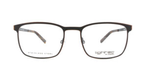 MOREL-Optique-30015 gris-Optique Homme-metal-rectangle