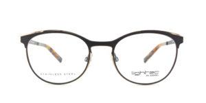 MOREL-Optique-30020 noir-Optique Femme-metal-ovale