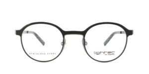 MOREL-Optique-30021 noir-Optique Femme-metal-rond
