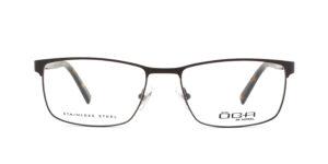 MOREL-Optique-10036 marron-Optique Homme-metal-rectangle