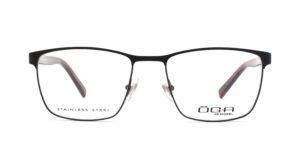 MOREL-Optique-10037 noir-Optique Homme-metal-rectangle
