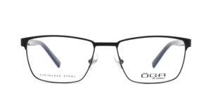 MOREL-Optique-10038 noir-Optique Homme-metal-rectangle
