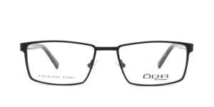 MOREL-Optique-10041 noir-Optique Homme-metal-rectangle