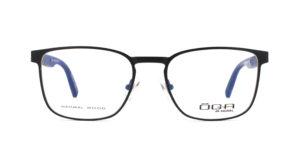 MOREL-Optique-10043 noir-Optique Homme-metal-rectangle