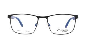 MOREL-Optique-10044 noir-Optique Homme-metal-rectangle