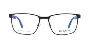 MOREL-Optique-10045 noir-Optique Homme-metal-rectangle