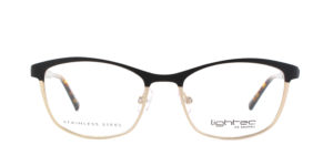 MOREL-Optique-30044 noir-Optique Femme-metal-rectangle
