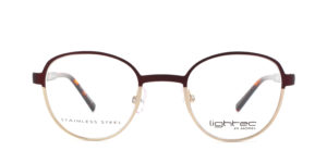 MOREL-Optique-30045 rouge-Optique Femme-metal-rond
