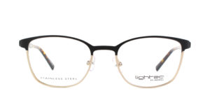 MOREL-Optique-30046 noir-Optique Femme-metal-rectangle