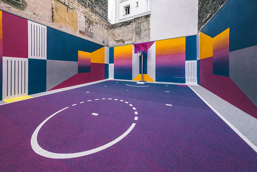 Playground duperré tout en couleurs